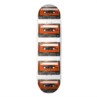 Casete anaranjado de la etiqueta de la cosecha tabla de skate