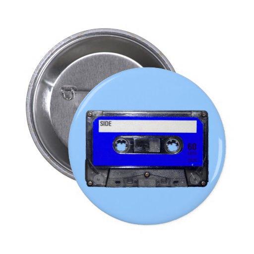 Casete azul de la etiqueta de los años 80 del vint pin