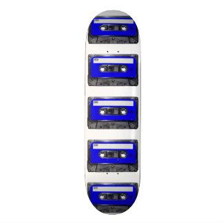Casete azul de la etiqueta monopatín personalizado