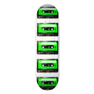 Casete brillante de la etiqueta de la verde lima patín personalizado