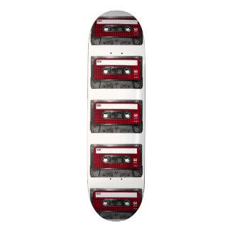 Casete rojo y negro de la etiqueta de Houndstooth Monopatín Personalizado