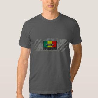 Casete urbano del reggae camiseta