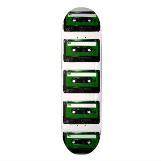 Casete verde de la etiqueta tablas de patinar