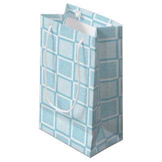 Casillas blancas azules y en colores pastel bolsa de regalo pequeña