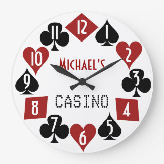 Casino adaptable 2 del sitio del póker reloj redondo grande
