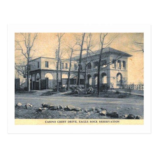 Casino, roca de Eagle, W. Orange, vintage de NJ Postal