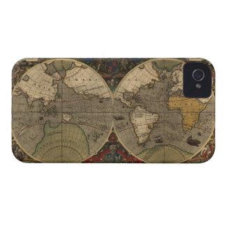 Caso 1595 del iPhone 4 del mapa del mundo del viej iPhone 4 Carcasas