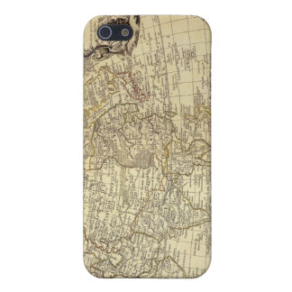 Caso 1700 del iPhone 4 del mapa del mundo del vint iPhone 5 Protector