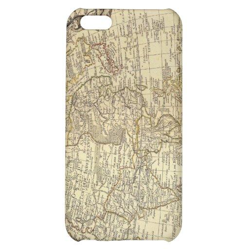 Caso 1700 del iPhone 4 del mapa del mundo del vint