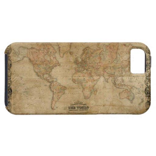 Caso 1847 del iPhone 5 del mapa del mundo del oro  iPhone 5 Case-Mate Funda