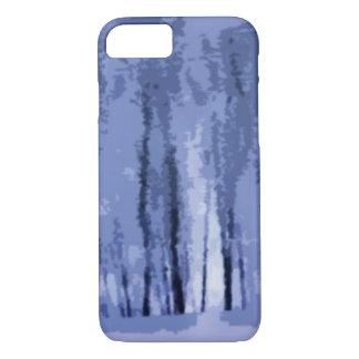 Caso abstracto del iPhone 7 de maderas azules del Funda iPhone 7