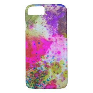 Caso abstracto manchado de tinta de la célula del funda iPhone 7