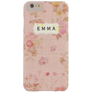 Caso adaptable floral del iPhone 6 del vintage Funda Barely There iPhone 6 Plus