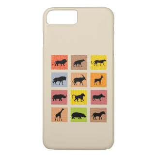 Caso africano del iPhone de los animales Funda Para iPhone 8 Plus/7 Plus
