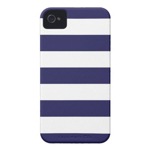 Caso ancho del iPhone de la raya de los azules mar iPhone 4 Cobertura