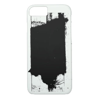 Caso blanco y negro nativo de Iowa Funda iPhone 7