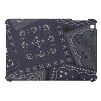 Caso brillante del final del iPad azul del pañuelo