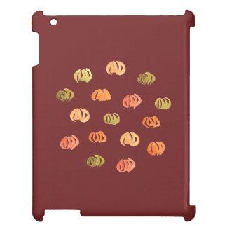 Caso brillante del iPad de la calabaza