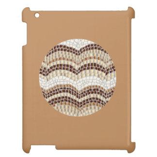 Caso brillante del iPad del mosaico beige redondo