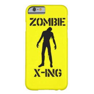 ¡Caso brillante y alarmante del zombi! Funda Barely There iPhone 6