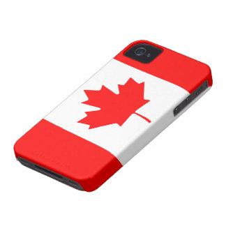 Caso canadiense del iPhone 4/4S de la bandera iPhone 4 Protectores