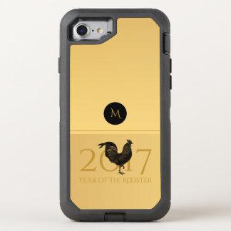 Caso chino 2017 del Año Nuevo O del gallo elegante Funda OtterBox Defender Para iPhone 7