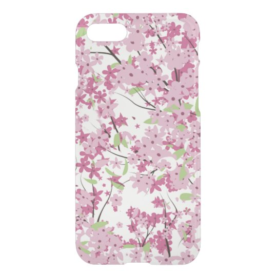 Caso claro del iPhone 7 de la flor de cerezo Funda Para iPhone 7
