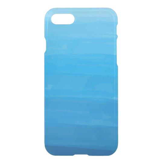 Caso claro del iPhone de Ombre del azul de océano Funda Para iPhone 7