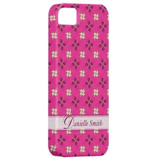 Caso clásico del iPhone 5 del modelo del rosa flor iPhone 5 Coberturas