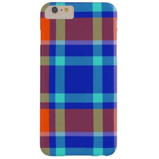 Caso con textura del tartán del color funda barely there iPhone 6 plus