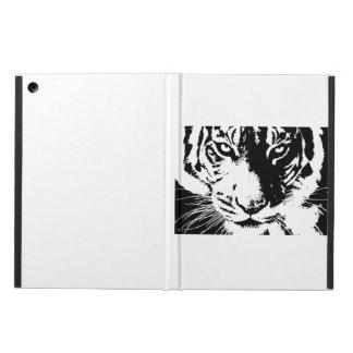 Caso con un tigre blanco y negro de la impresión