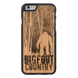 Caso de Bigfoot Iphone 6 Funda De iPhone 6 Carved® De Cerezo