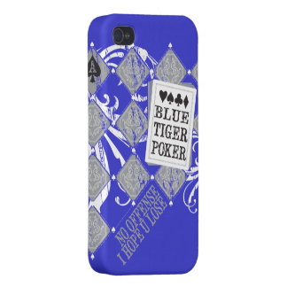 Caso de BlueTigerPoker Iphone iPhone 4 Fundas