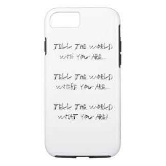 ¡caso de cáscara duro del iPhone - es quién usted Funda iPhone 7
