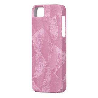 Caso de cristal del iPhone 5G de la mancha rosada iPhone 5 Funda
