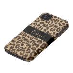 Caso de encargo del estampado leopardo del iPhone  iPhone 4 Funda