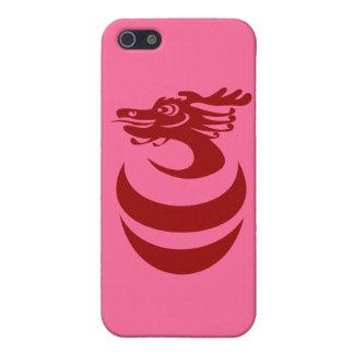 Caso de encargo del fondo IPhone4 del dragón rojo iPhone 5 Cárcasas