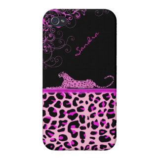 Caso de encargo del iPhone 4 de la impresión rosad iPhone 4 Coberturas