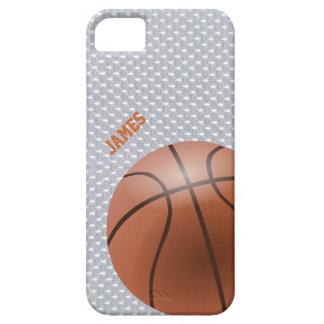 Caso de encargo del iPhone 5 del baloncesto Funda Para iPhone 5 Barely There