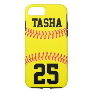 Caso de encargo del iPhone 7 del softball Funda Para iPhone 8/7