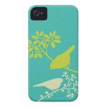 Caso de encargo del iPhone de los pájaros colorido iPhone 4 Case-Mate Cárcasa
