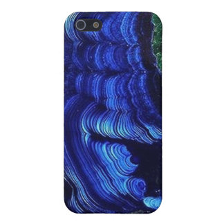 Caso de Geode iPhone4 de la malaquita del Azurite iPhone 5 Protector