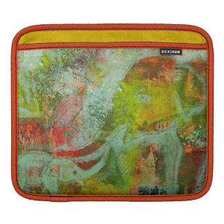 Caso de Ipad con la pintura abstracta del elefante Funda Para iPads