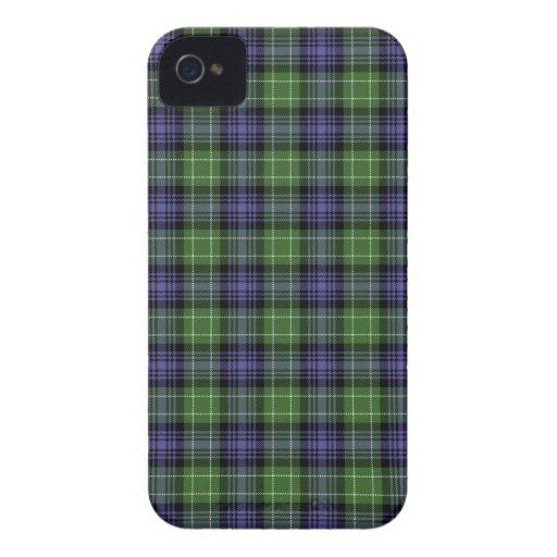 Caso de Iphone 4/4S de la tela escocesa de tartán  iPhone 4 Cárcasa