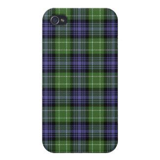 Caso de Iphone 4 de la tela escocesa de tartán de iPhone 4 Coberturas