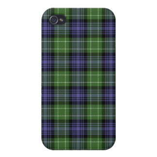 Caso de Iphone 4 de la tela escocesa de tartán de iPhone 4/4S Carcasas