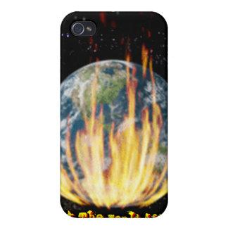 Caso de IPhone 4 - fije el mundo incendiado iPhone 4 Funda