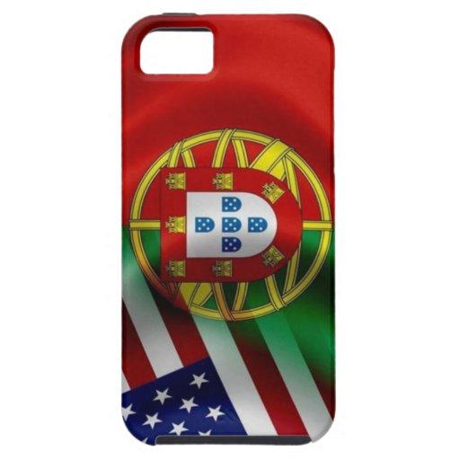Caso de Iphone 5 de la bandera de Portugal/USA iPhone 5 Cárcasa