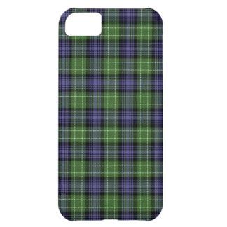 Caso de Iphone 5 de la tela escocesa de tartán de