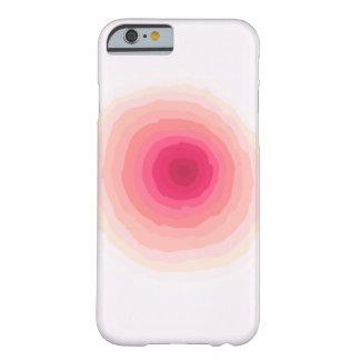 Caso de Iphone 6, círculo descolorado Funda Barely There iPhone 6